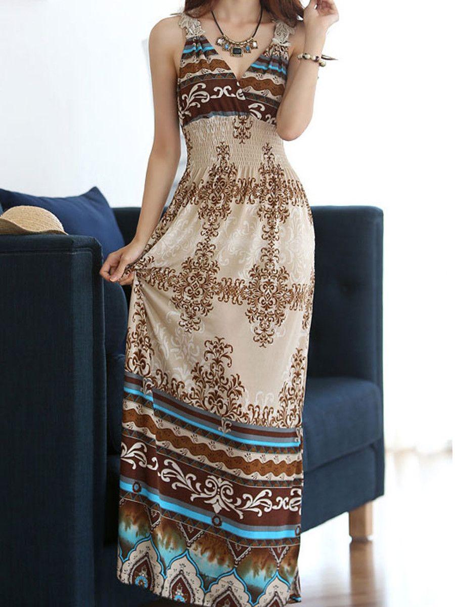 elegant wrapped neck summer maxi dress e6275 cilory