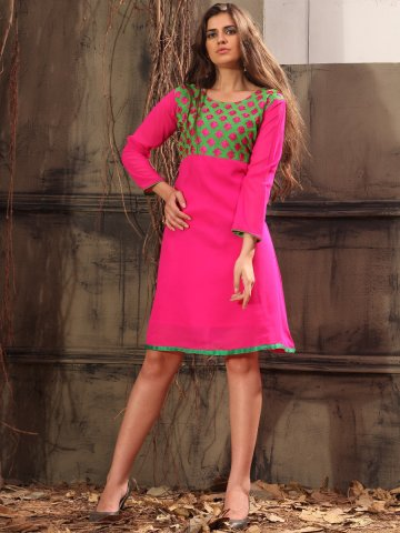 https://static.cilory.com/133543-thickbox_default/rose-green-pink-georgette-kurti.jpg