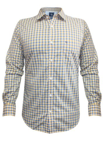 f6699cb961f6  Peter England Pure Cotton Yellow Check Shirt.  https   static.cilory.com 171352-thickbox default peter-
