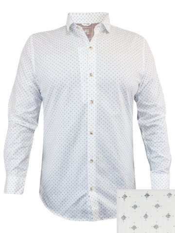 Peter England White Casual Printed Shirt | Esf31600138-f | Cilory.com