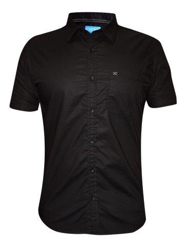 Numero Uno Black Half Sleeve Shirt | Nmshhe986-black | Cilory.com