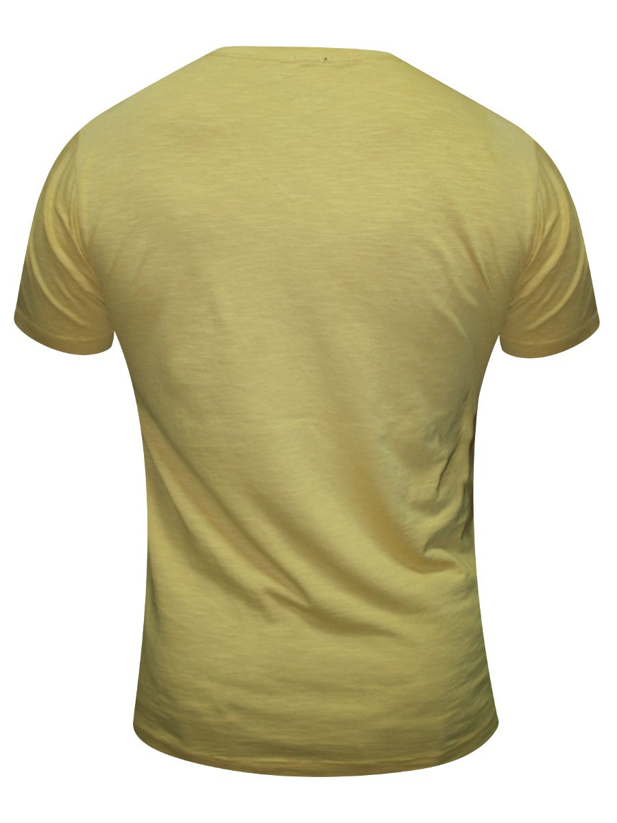 Pepe Jeans Yellow V Neck Tshirt Pm503000 Gold