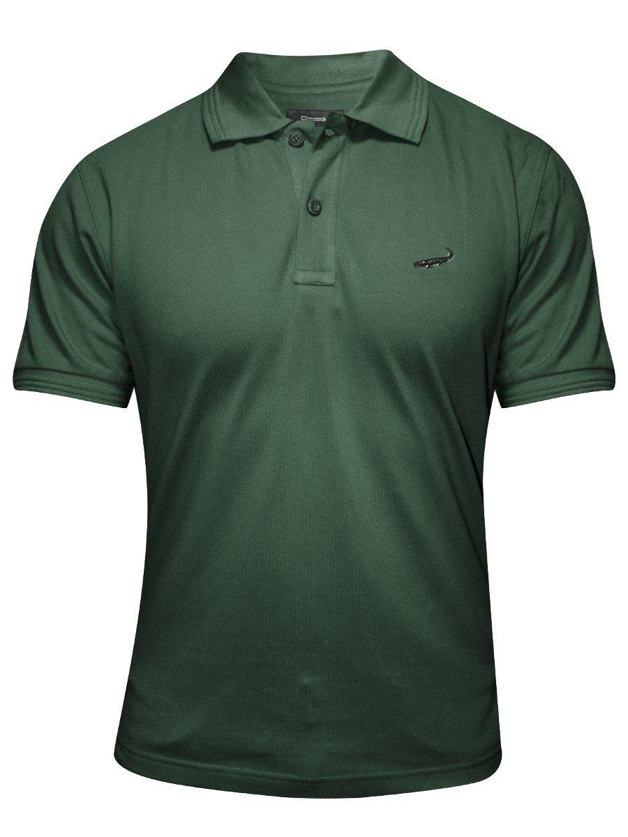 Buy t shirts online crocodile dark green polo t shirt for Dark green mens polo shirt