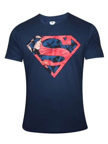 Superman Blue Round Neck T-Shirt at cilory