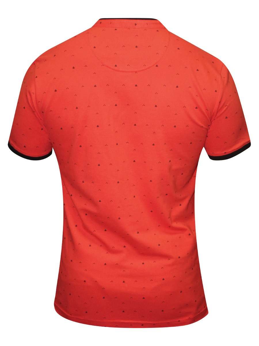 Spykar Orange Printed Polo T Shirt Rts S16 49 Orange
