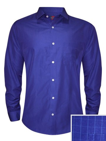 Peter England Blue Formal Checks Shirt at cilory