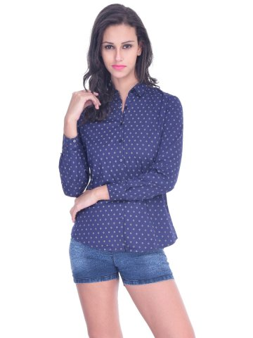 Arrow Navy Women Shirt at cilory