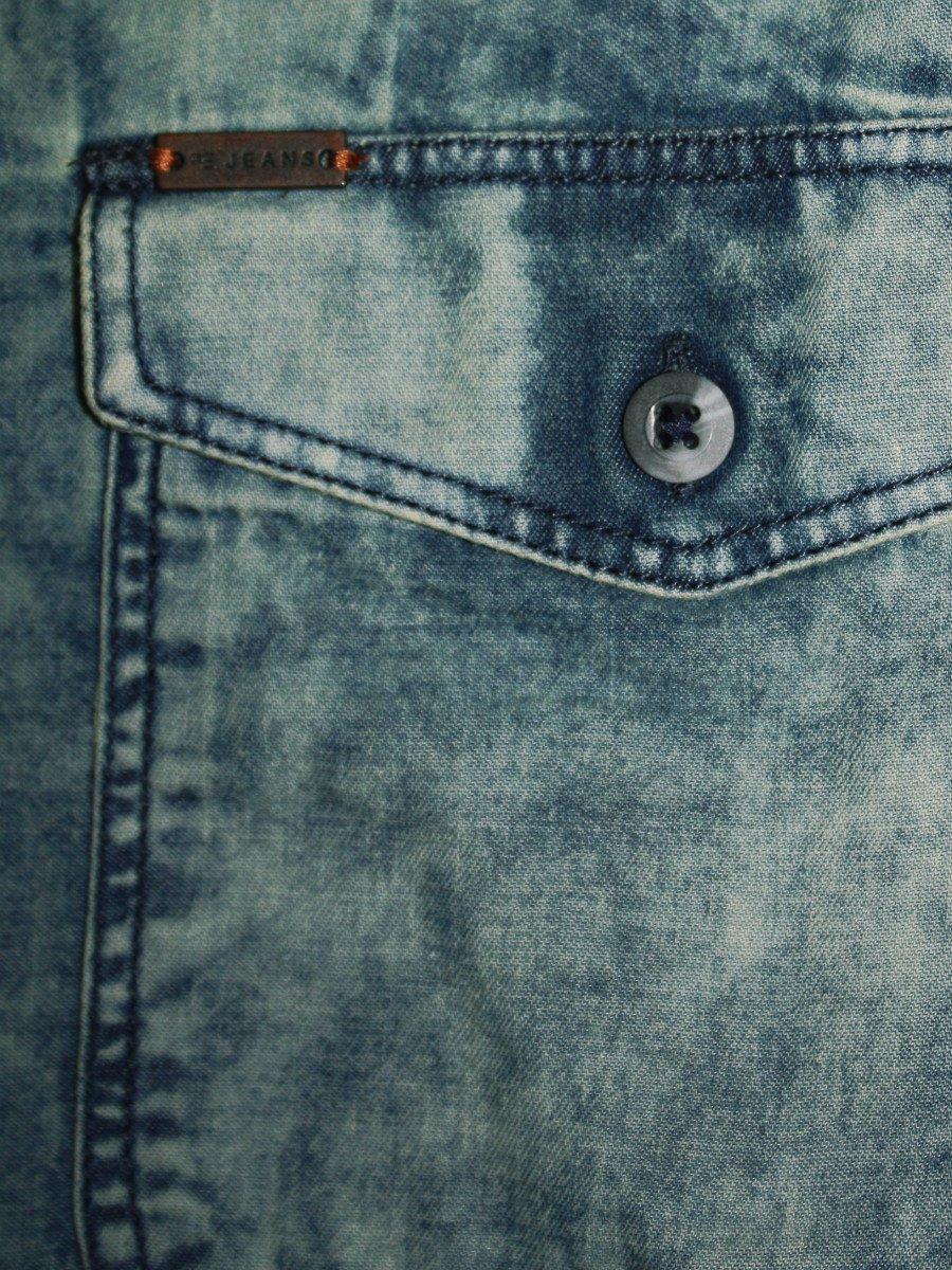 90582ab98 Peter England Pure Cotton Blue Denim Shirt | Jsf31604229-fs | Cilory.com