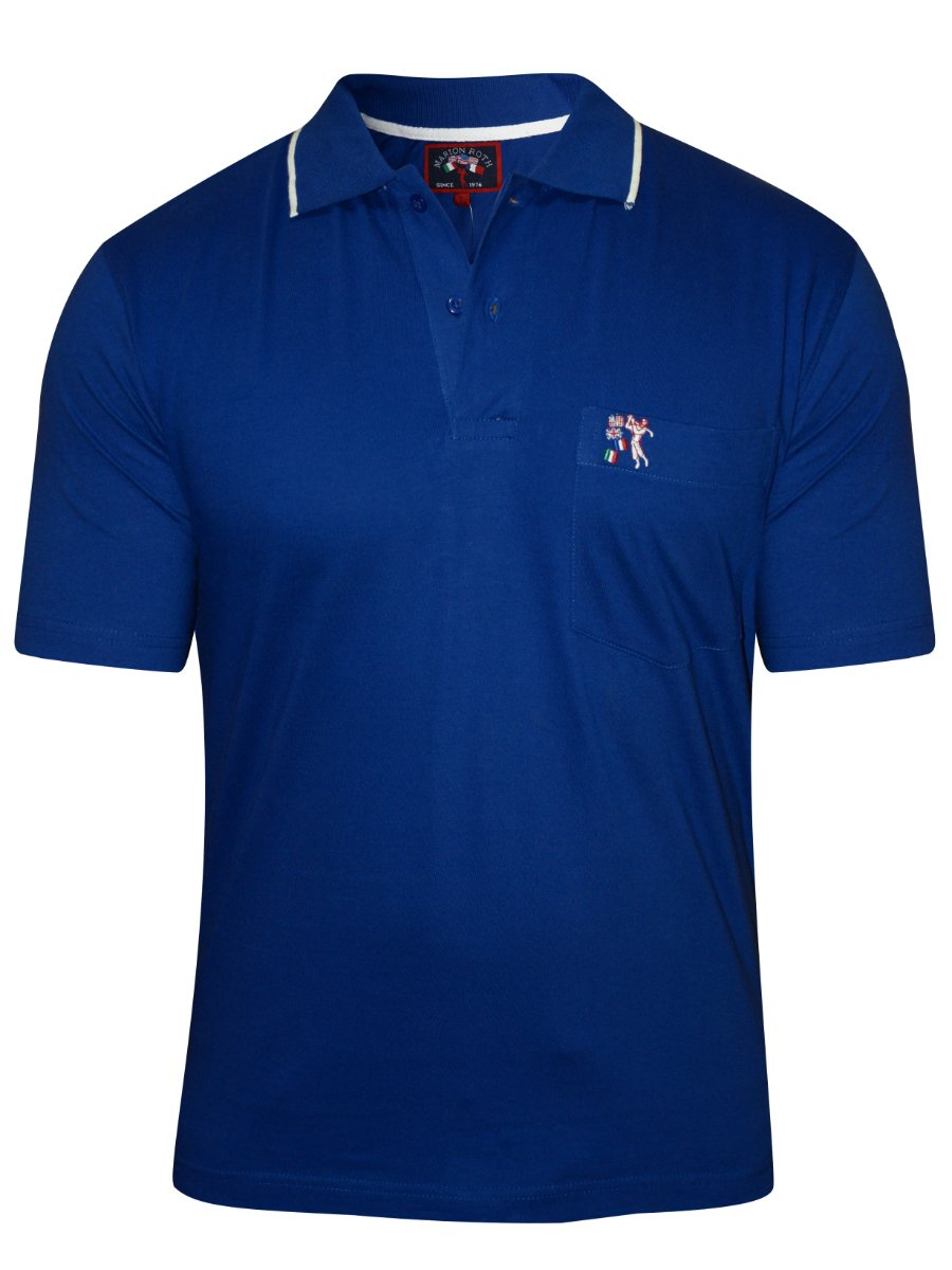 Buy T Shirts Online Marion Roth Royal Blue Polo T Shirt