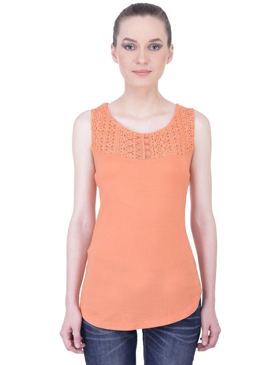 Orange Top With Umbrella Sleeves The Vanca: Cilory