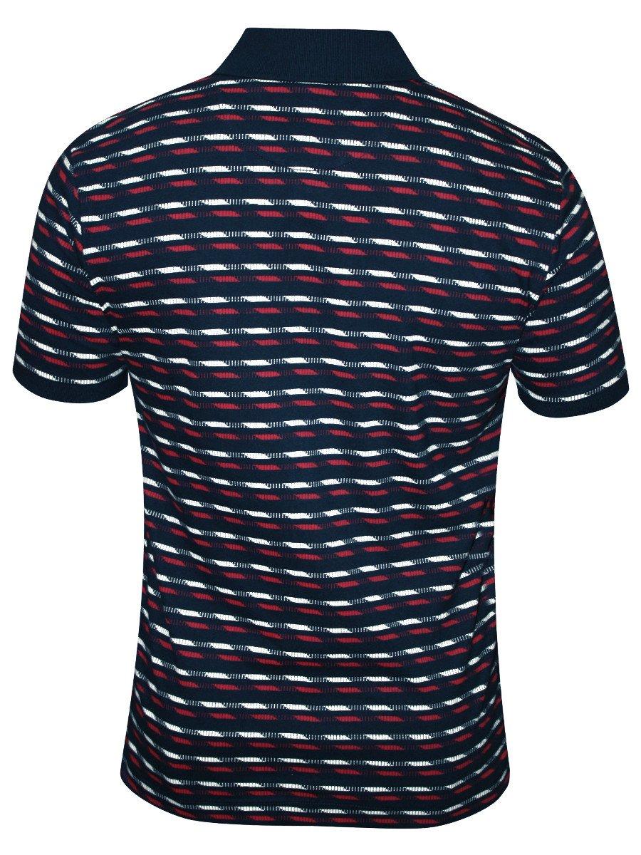 Arrow Navy Printed Polo T Shirt Akss3333 Navy