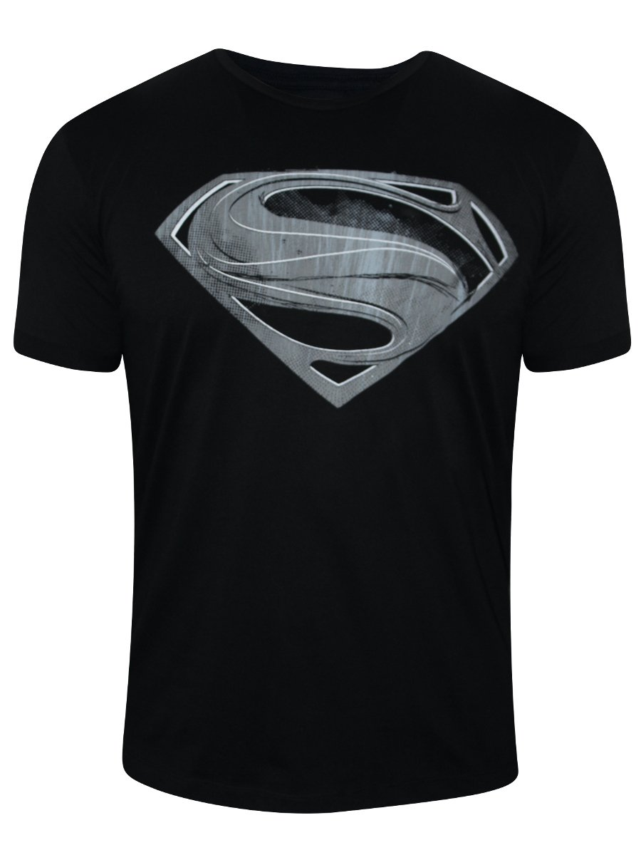 Buy T Shirts Online Superman Black Round Neck T Shirt