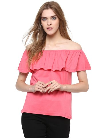 Harpa Pink Off Shoulder Top at cilory