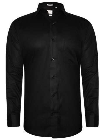 Arrow Black Formal Cotton Linen Shirt at cilory