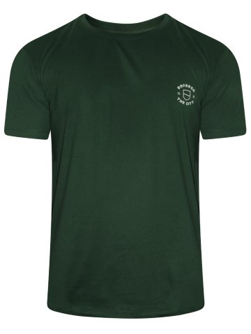 Lee Army Green Round Neck T-Shirt at cilory