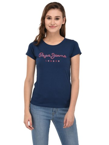 Pepe Jeans Navy Tee at cilory