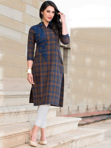 https://static.cilory.com/318404-thickbox_default/faith-blue-dark-brown-cotton-embroidered-kurti.jpg