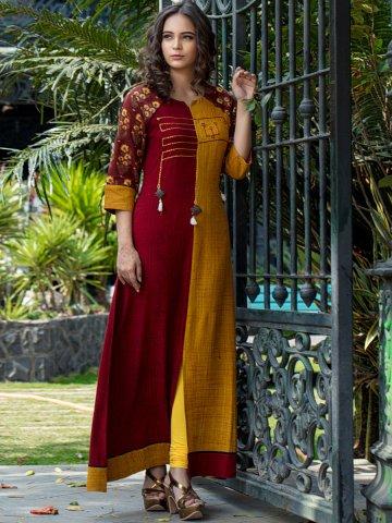 https://static9.cilory.com/347489-thickbox_default/poshaak-red-mustard-rayon-cotton-embroidered-kurti.jpg