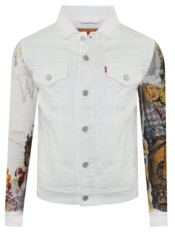 Levis White Denim Trucker Light Winter Jacket 24869 0032 Cilory Com