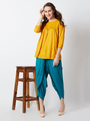 https://d38jde2cfwaolo.cloudfront.net/366731-thickbox_default/estonished-yellow-teal-short-top-with-dhoti.jpg