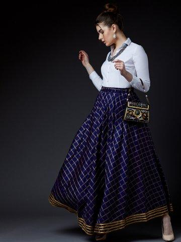 0a3d79654 ... Zari Checks Long Skirt.  https   static1.cilory.com 389244-thickbox default estonished-