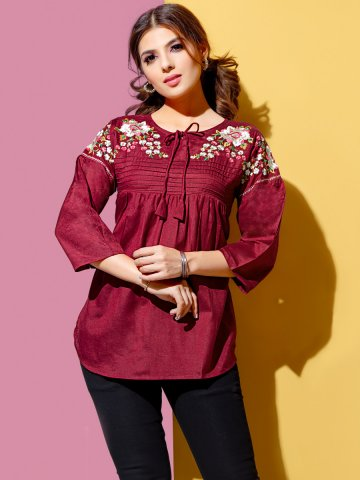 https://static.cilory.com/397872-thickbox_default/maroon-rayon-embroidered-top.jpg