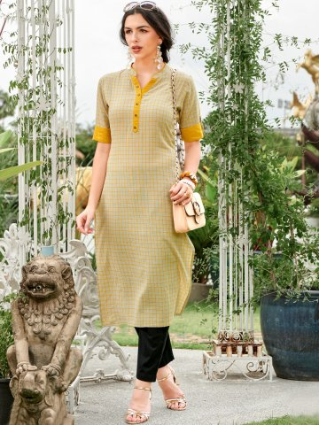 https://static4.cilory.com/410570-thickbox_default/100-miles-grey-mustard-cotton-kurta.jpg