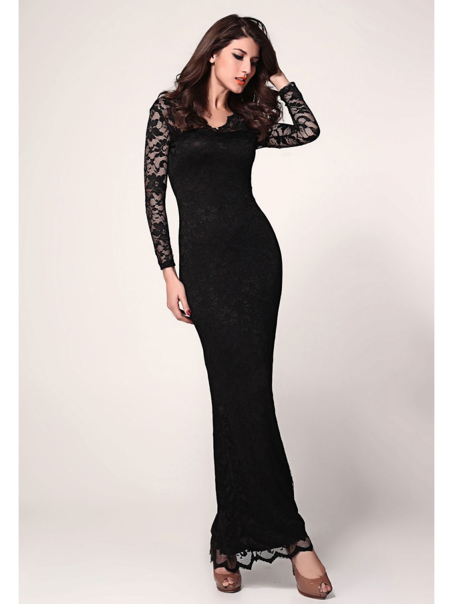 Black maxi dress online india