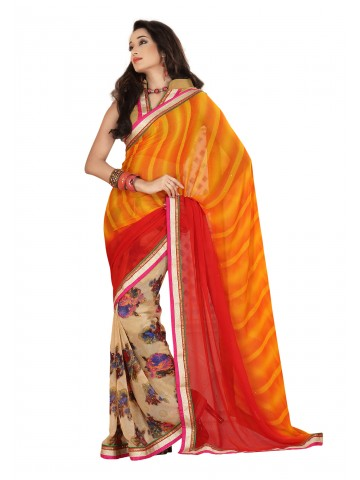 https://static2.cilory.com/87145-thickbox_default/fabdeal-georgette-printed-yellow-red-saree.jpg
